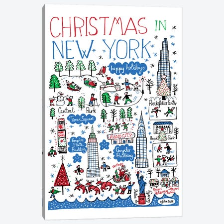New York Christmas Canvas Print #GAS10} by Julia Gash Canvas Art