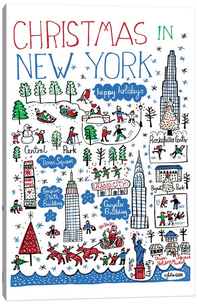 New York Christmas Canvas Art Print