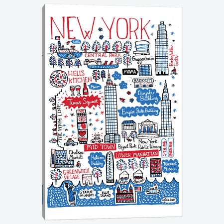 New York Canvas Print #GAS11} by Julia Gash Canvas Artwork
