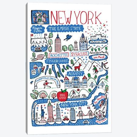 New York State Canvas Print #GAS12} by Julia Gash Canvas Wall Art