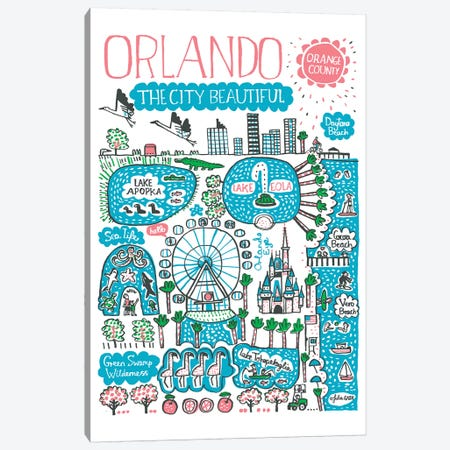 Orlando Canvas Print #GAS13} by Julia Gash Canvas Artwork