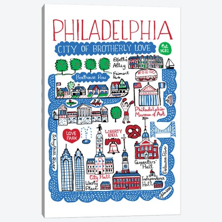 Philadelphia Canvas Print #GAS15} by Julia Gash Canvas Art Print