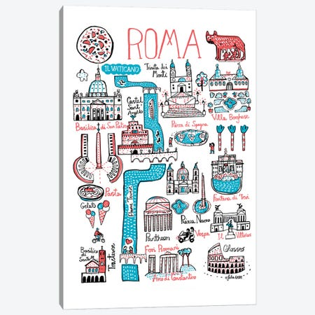 Roma Canvas Print #GAS17} by Julia Gash Canvas Art Print