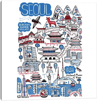 Seoul Canvas Art Print