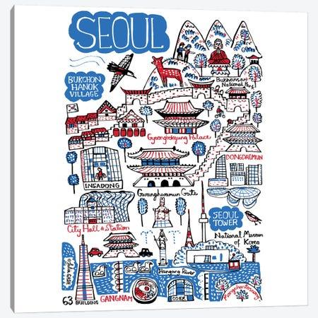 Seoul Canvas Print #GAS19} by Julia Gash Canvas Artwork