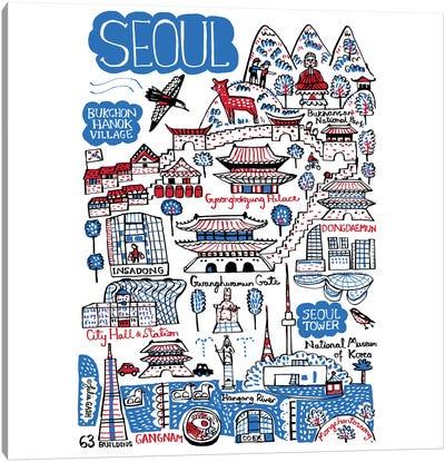 Seoul Canvas Art Print