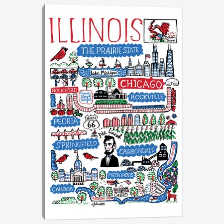 Illinois Canvas Print #GAS1} by Julia Gash Canvas Art Print
