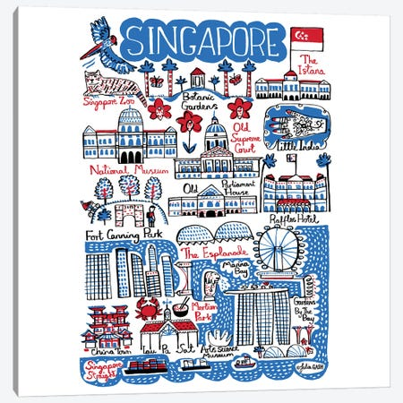 Singapore 3-Piece Canvas #GAS20} by Julia Gash Canvas Art Print