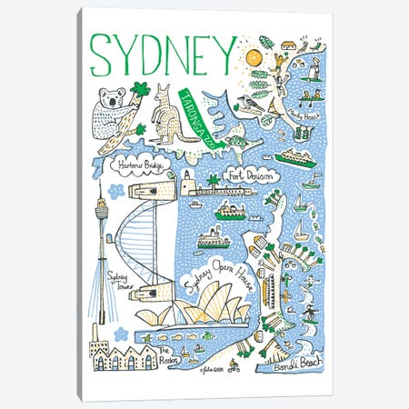 Sydney Canvas Print #GAS21} by Julia Gash Canvas Art Print