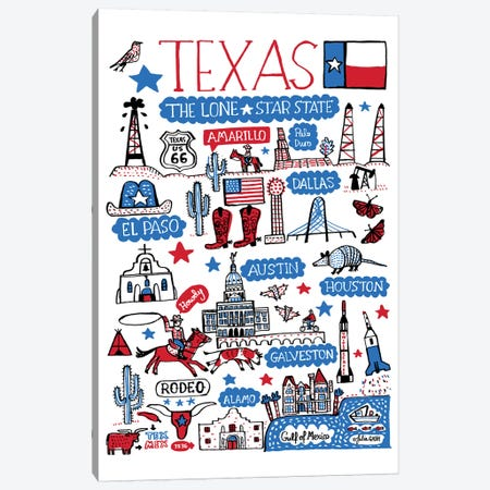 Texas Canvas Print #GAS22} by Julia Gash Canvas Art Print