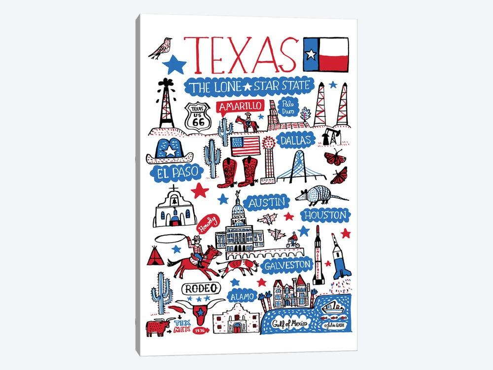 Texas by Julia Gash 1-piece Canvas Wall Art