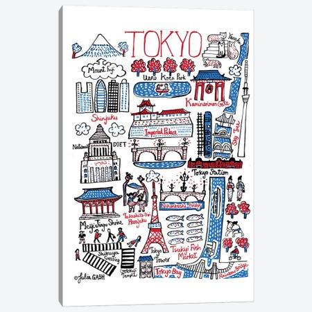 Tokyo Canvas Print #GAS23} by Julia Gash Art Print