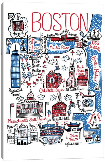 Boston Canvas Art Print