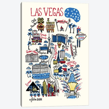 Las Vegas Canvas Print #GAS27} by Julia Gash Canvas Artwork