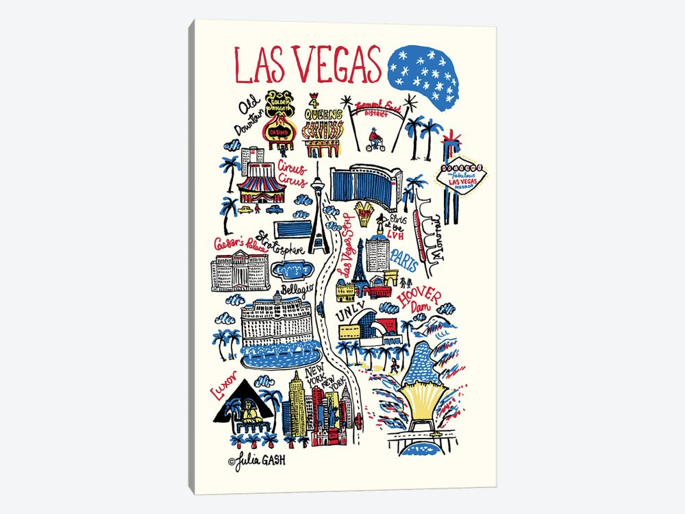 Las Vegas by Julia Gash 1-piece Canvas Print