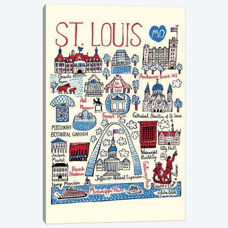 St Louis Canvas Print #GAS28} by Julia Gash Canvas Print