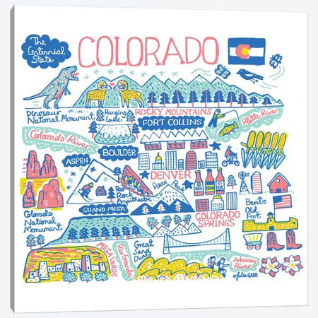 Colorado Canvas Print #GAS29} by Julia Gash Art Print