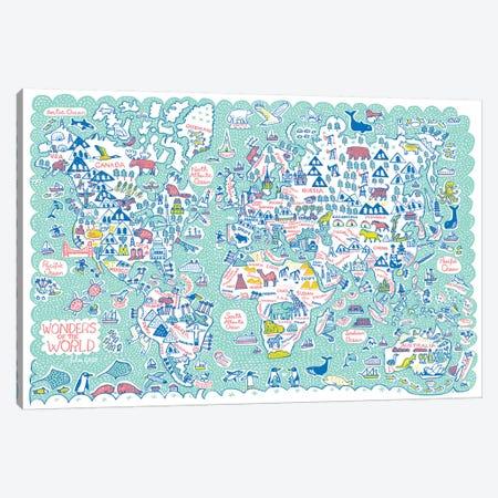 World Map Canvas Print #GAS32} by Julia Gash Canvas Art
