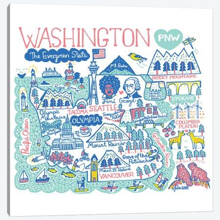 Washington Canvas Print #GAS37} by Julia Gash Canvas Art Print