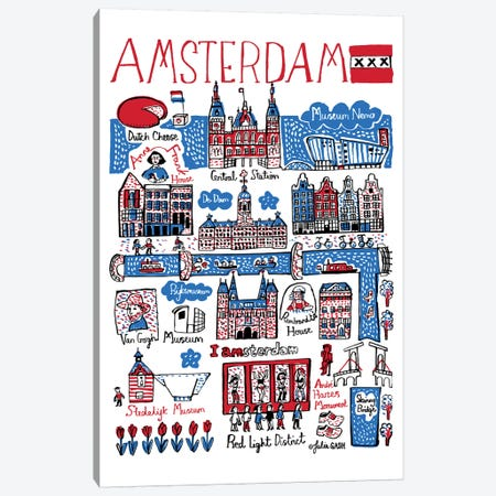 Amsterdam Canvas Print #GAS38} by Julia Gash Canvas Wall Art