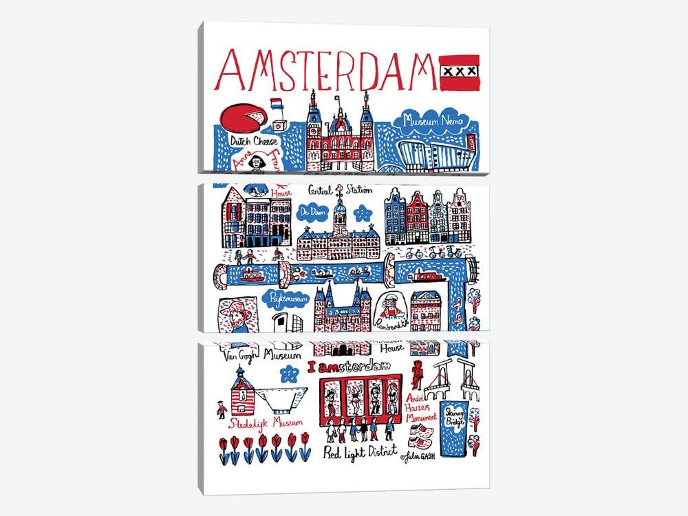 Amsterdam by Julia Gash 3-piece Art Print