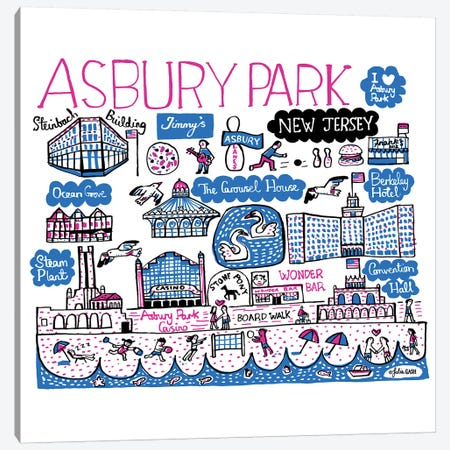 Asbury Park Canvas Print #GAS39} by Julia Gash Canvas Artwork