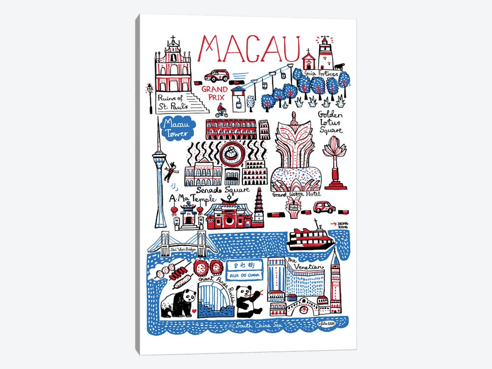 Macau by Julia Gash 1-piece Canvas Artwork