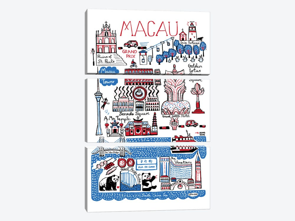 Macau by Julia Gash 3-piece Canvas Artwork