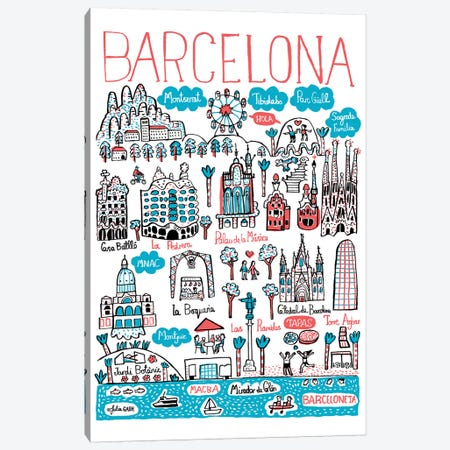 Barcelona 3-Piece Canvas #GAS40} by Julia Gash Canvas Print