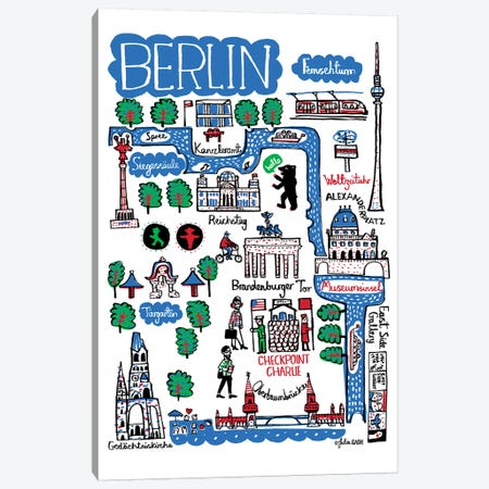 Berlin Canvas Print #GAS41} by Julia Gash Canvas Art Print