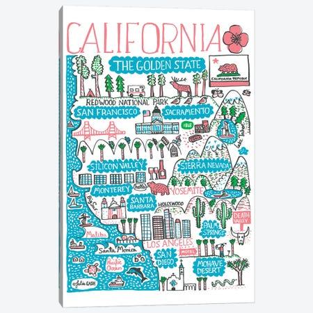 California Canvas Print #GAS42} by Julia Gash Canvas Art Print