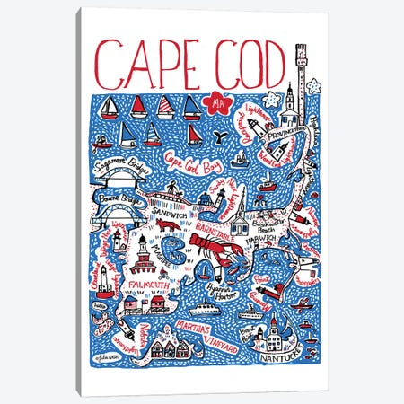 Cape Cod Canvas Print #GAS43} by Julia Gash Canvas Print