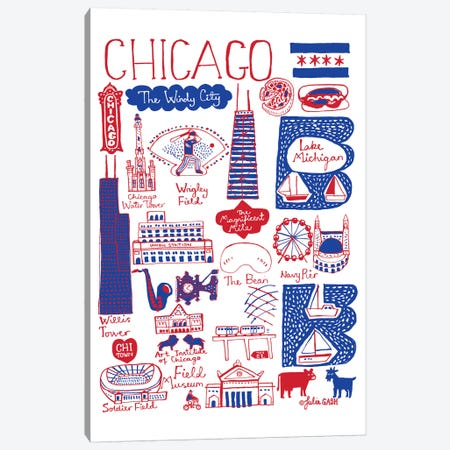 Chicago Canvas Print #GAS44} by Julia Gash Canvas Wall Art