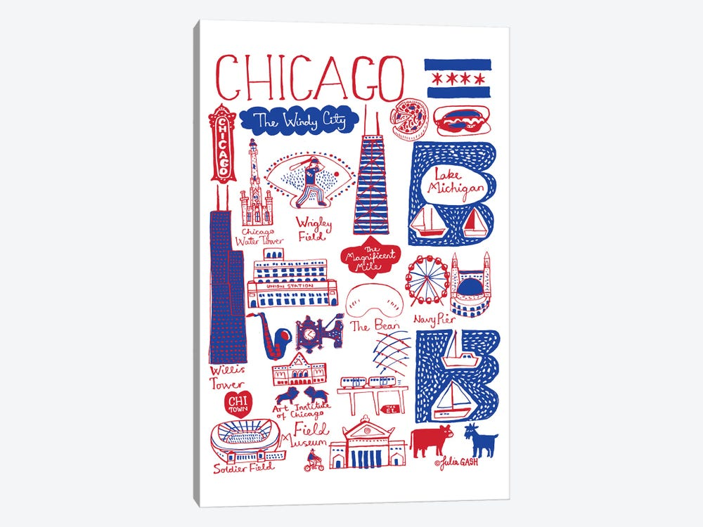 Chicago 1-piece Canvas Artwork