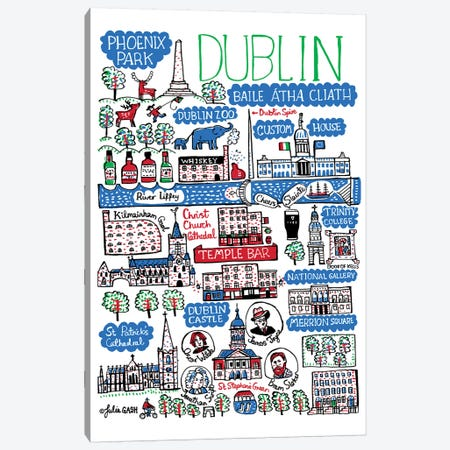 Dublin 3-Piece Canvas #GAS46} by Julia Gash Canvas Art