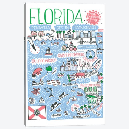 Florida Canvas Print #GAS47} by Julia Gash Canvas Artwork