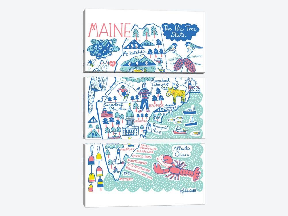 Maine by Julia Gash 3-piece Canvas Print