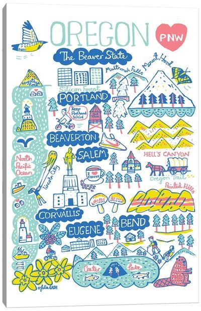Oregon Statescape Canvas Art Print