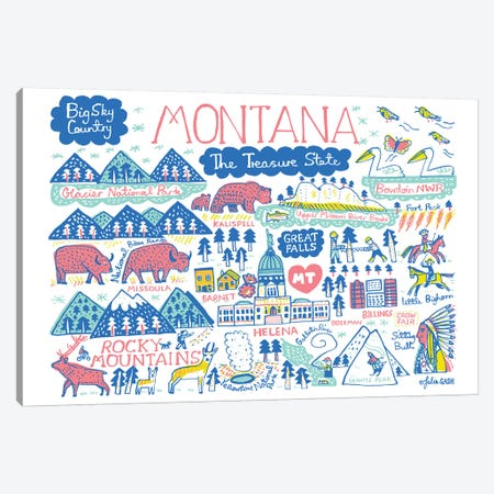 Montana Statescape Canvas Print #GAS54} by Julia Gash Canvas Print