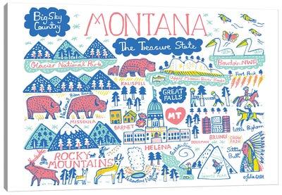 Montana Statescape Canvas Art Print