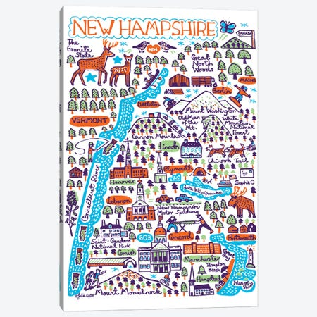 New Hampshire Canvas Print #GAS57} by Julia Gash Art Print