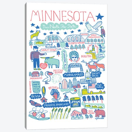 Minnesota Canvas Print #GAS5} by Julia Gash Canvas Artwork