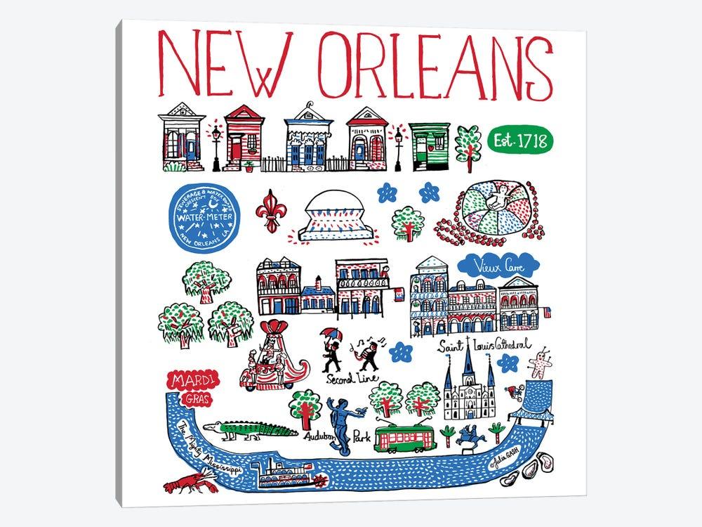 New Orleans by Julia Gash 1-piece Canvas Art
