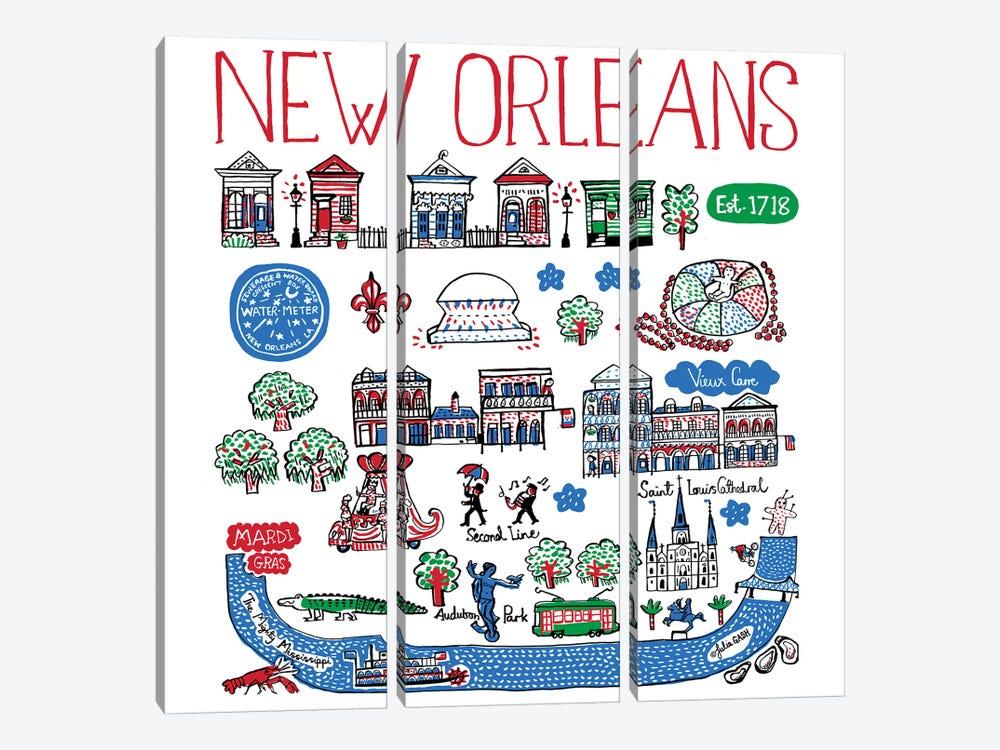 New Orleans by Julia Gash 3-piece Canvas Artwork
