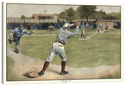 Thrown Out On 2nd, 1887 Canvas Art Print