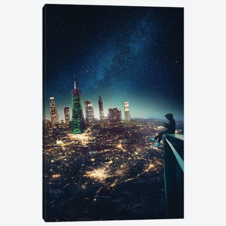 Outer Space Canvas Print #GAV10} by Gabriel Avram Art Print