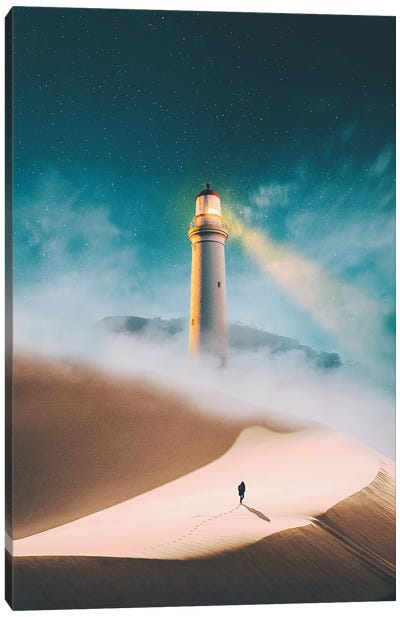 To The Lighthouse Canvas Art Print