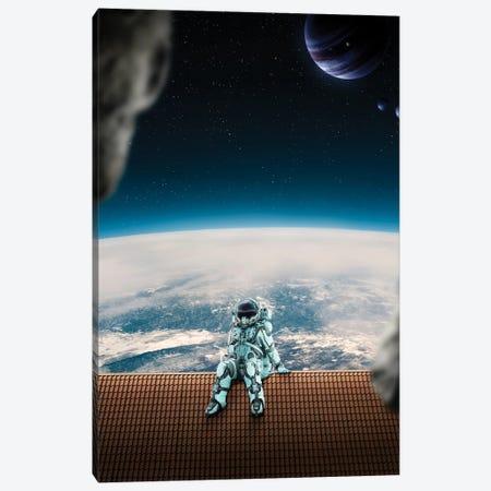 Astronaut On The Roof Canvas Print #GAV24} by Gabriel Avram Art Print