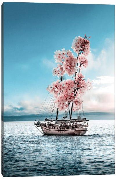 Flower Boat Canvas Art Print