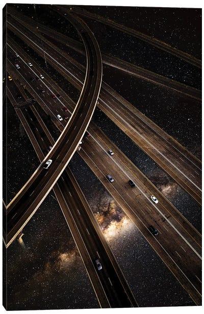 Galactic Highway Canvas Art Print